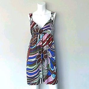 Muse Multicolor Retro Swirl Dress.